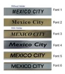 Mexico City Clock Name Plate |World Time Zone City Wall clocks Sign custom Plaque